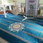 İzmir Ödemiş Merkez Hamdibey Cami Akrilik Göbekli ve Saflı Cami Halısı Satış ve Döşeme İşi