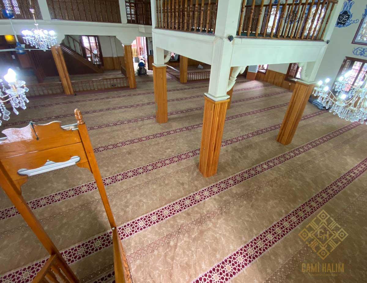 Sakarya Karşıyaka Cami Saflı Akrilik Cami Halısı Satış ve Döşeme İşi