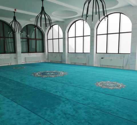 Akrilik Göbekli Cami Halısı Afyon Karahisar Yeşil Cami