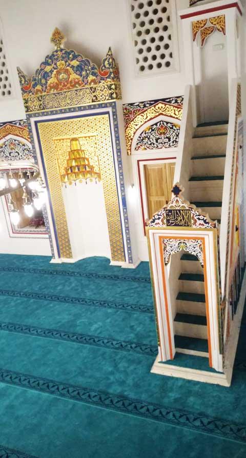 Akrilik Saflı Cami Halısı Bosna Hersek Foca Cami